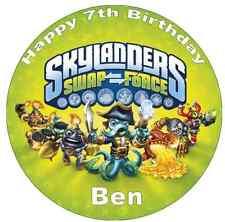 """Skylanders Swap Force Personalised Cake Topper Edible Wafer Paper 7.5"""""""