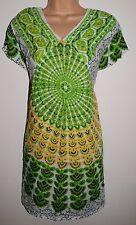 Nueva Blusa Túnica de Algodón Vestido Top Kurta XL 16-bastante intercambió étnico hippy