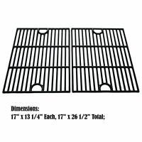 """Kenmore Gas Grill Cast Iron Porcelain Coated Cooking Grates 26 5//8/"""" x 18 .75/"""""""