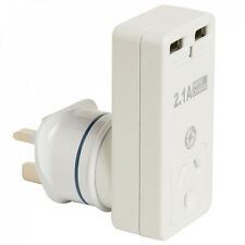 KORJO 2 Port USB & Power Adaptor For UK, Parts of Asia, Middle East, Africa