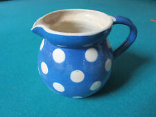 "Polka Dot Ceramic Creamer Made In France 4 X 5"" [*81J]"