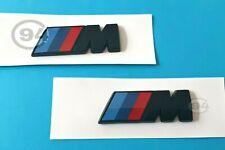 2x logo BMW /M Performance Autocollants pour AILES NOIR Emblème Motorsport