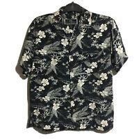 LA CABANA Mens Gents M Designer Hawaiian Aloha Floral Shirt Summer Holiday Beach