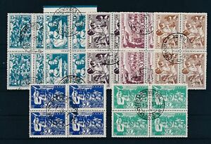 [G42192] Russia 1938 Good set blocks of 4 Very Fine used stamps