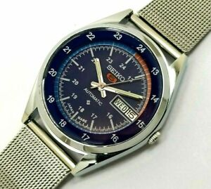 vintage seiko 5 automatic men's japan wrist watch