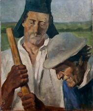 Dans le goût de Munch. HST Huile années 1920 Peinture Tableau