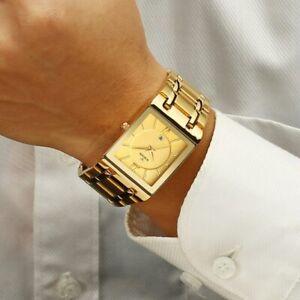 Relogio Masculino WWOOR Gold Watch Men Square Mens Watches Top Brand Luxury