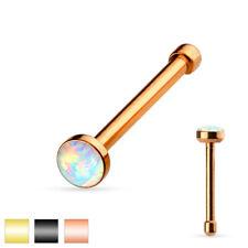 Opal Gold Nasenpiercing 316L Chirurgenstahl