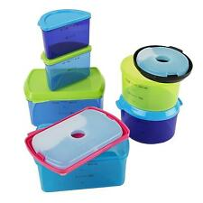 Food Container Set Kids Reusable Storage Built In Ice Pack Microwave Safe New
