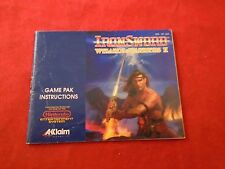 Iron Sword Wizard & Warriors II Nintendo NES Instruction Manual Booklet ONLY