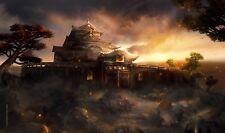 L5R Play Mat [ Hisu Mori Toride for Lion Clan ] Legend of the Five Rings LCG
