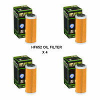 KTM 250 XCF / 250  XCFW FITS 2013 TO 2018  HIFLOFILTRO OIL FILTER HF652  4 PACK