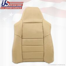 2008 2009 2010 Ford F-250 Driver Upper Back Replacement Leather Seat Cover tan