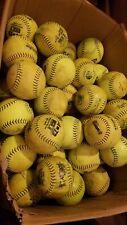 "New listing 7 Dozen (84) Mixed Used Womens 11"" Softballs Worth, Tattoo. Good Practice"
