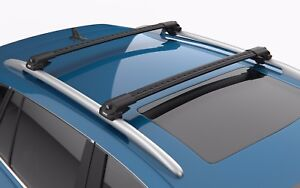 Turtle Black Air V1 Roof Rail Racks Cross Bar for Volkswagen Tiguan II 2016-2021