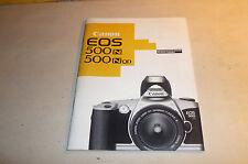 Original Bedienungsanleitung - Beschreibung Kamera Canon EOS 500 mit 66 Seiten !