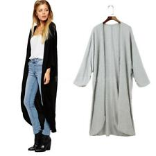 Plus Size Full Length Coats & Jackets without Fastening for Women