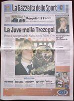 RARISSIMA GAZZETTA DELLO SPORT 23 DICEMBRE 2003 NEDVED PALLONE D'ORO JUVENTUS