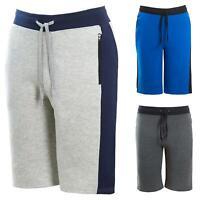 Mens Cargo Style Zip Pocket Block Summer Casual Fleece Contrast Colour Shorts