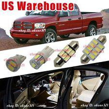 14-pc White Light Interior LED Package Kit For 02-11 Dodge Ram 1500 2500 3500
