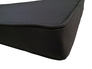 Ebony Black Piano Bench Cushion Pad - Choose Size & Thickness