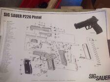SIG Sauer 226 Poster  - Parts Schematic Poster