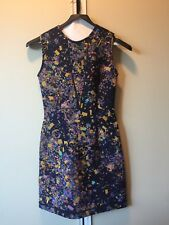Cynthia Rowley Black Neoprene Confetti Dress Size 2