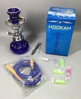Hookah Blue Ornate Glass - Single Hose Vase