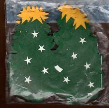 "Green Christmas Tree Paper Garland 8 Feet Hallmark Holiday 5"" tall Party Express"