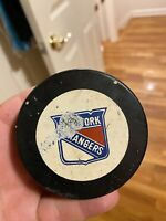 New York Rangers Official Game Used NHL Hockey Puck