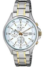 SEIKO SKS479P1 Chronograph Neo Sport 2 Tone 100M Gents 2Year Guarantee RRP £250.