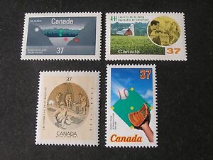 CANADA, SCOTT # 1214+1215+1216+1221(4),COMPLETE SINGLE SETS1988 ISSUES MNH