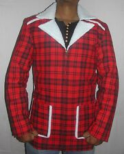 Men's DEADPOOL Ryan Reynolds Celebrity Shearling Fur Giacca Designer Coat