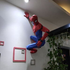 80cm Spider-Man action figure educational Wall Hanging Home Decor 3D Paper Model