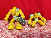 "Lot of 2 Gormiti Giochi Preziosi Action Figures  2007- 2009 2"" Yellow Series"