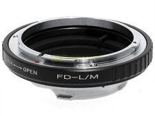 Anello adapter x montare ottiche Canon FD su corpi Leica M. Adattatore. ALM.
