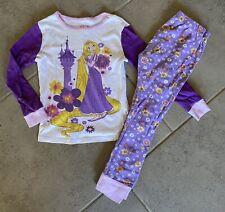 Disney Tangled Two Piece Pajama Set Size 6 (W61)