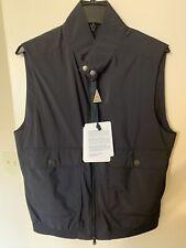 NEW Authentic Moncler Men Vest With Pockets Pourtet Gilet  Blue Logo 2 M $790