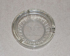 "Vintage Clear Glass Hilton Ashtray Cigarette Holder Round 4.5""  - Nice"