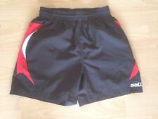 Saller S kurze Sporthose Hose Trainingshose schwarz rot