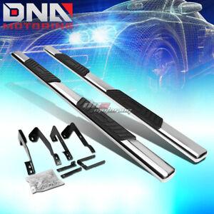 "FOR 02-09 DODGE RAM 4DR QUAD CAB STAINLESS 5"" CHROME OVAL SIDE STEP NERF BAR KIT"