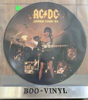 AC/DC MEGA RARE PICTURE DISC PROMO JAPAN TOUR 81 NR MINT CON NICE RARE RECORD
