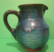Harding Black Blue Glaze Pitcher Jug