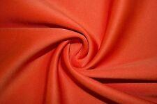 Orange Scuba Techno Double Knit Fabric Stretch Polyester Lycra Spandex BTY
