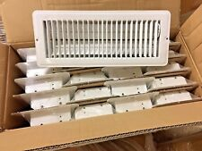"WHITE 4"" X 12"" METAL FLOOR REGISTER/VENT FOR MOBILE HOME / RV / HOUSE -LOT OF 20"
