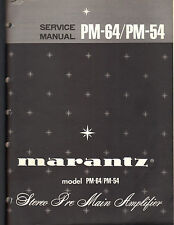 Marantz Service Manual PM-64 54 Digital Monitoring Amplifier preamp original