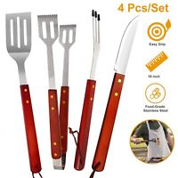Barbecue Grill BBQ Stainless Steel Tongs Spatula Knife Fork Tools Kitchen Tool