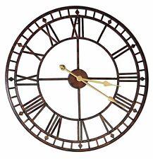 60 cm Large Metal Skeleton Wall Clock Home Cafe Bar Pub Restaurant Office Decor