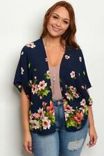 NEW..Stylish Plus Size Navy Floral Cardi Cover Up Kimino..SZ16-18/1XL
