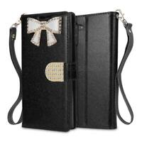 Sparkly Glitter Diamond Leather Wallet Flip Case For Samsung Galaxy A10/A20/A30